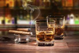 Cigars and Bourbon